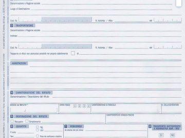Formulario di Identificazione dei Rifiuti